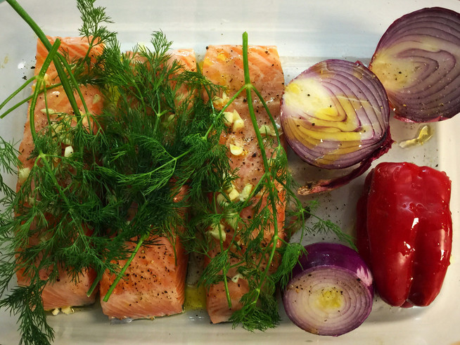 Roasted Salmon with Dill