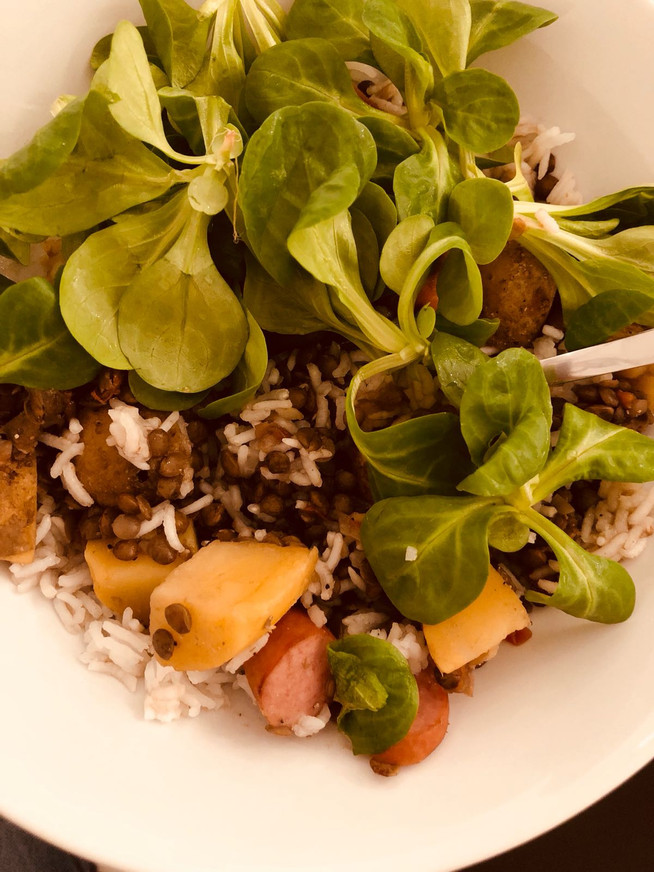 Lentil with Baby Greens
