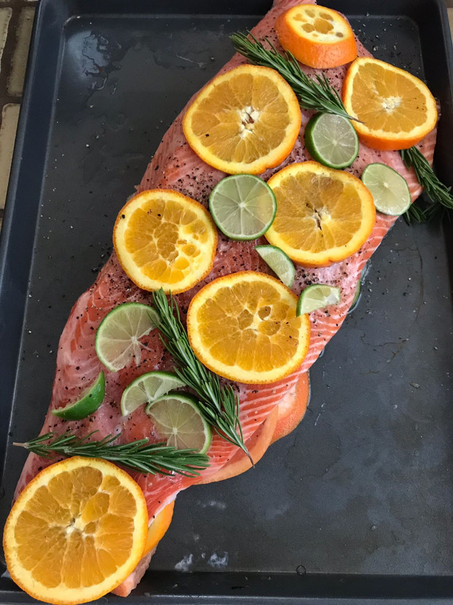Salmon with Citrus and Fresh Rosemary