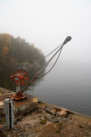 Pohjoisrannan kivilaituri syksyllä 2018