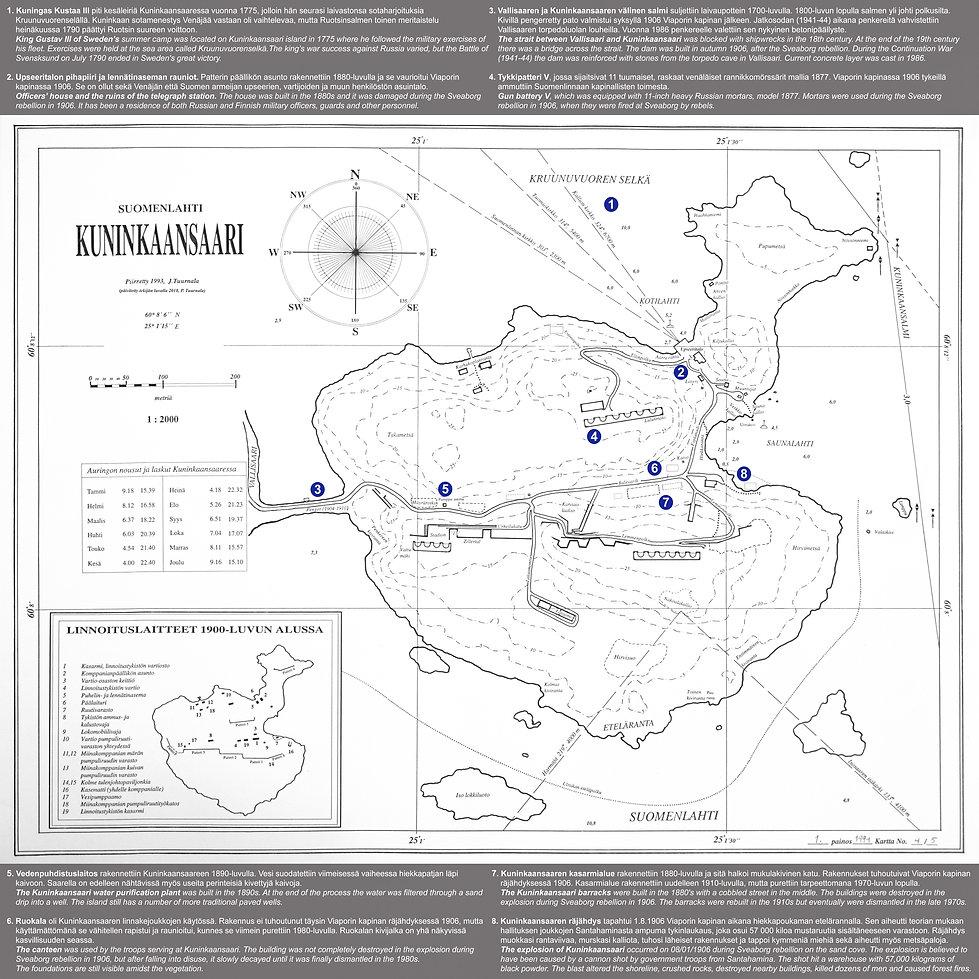 Kuninkaansaari opaskartta