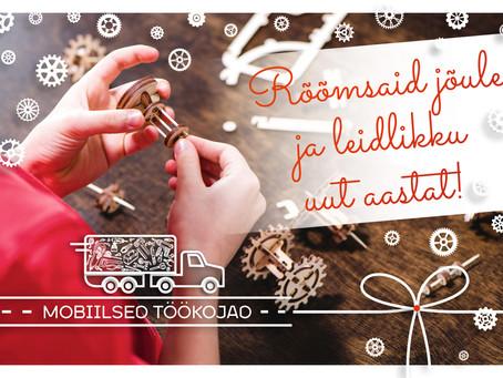 Rõõmsaid jõule ja leidlikku uut aastat!