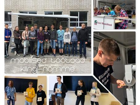 Mobiilne töökoda Kilingi-Nõmme Gümnaasiumi karjääripäeval