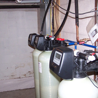 Water conditioning - twin neutralizers and softener