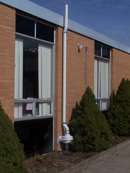 Middle School mitigation beneath building - no plumbing inside rooms