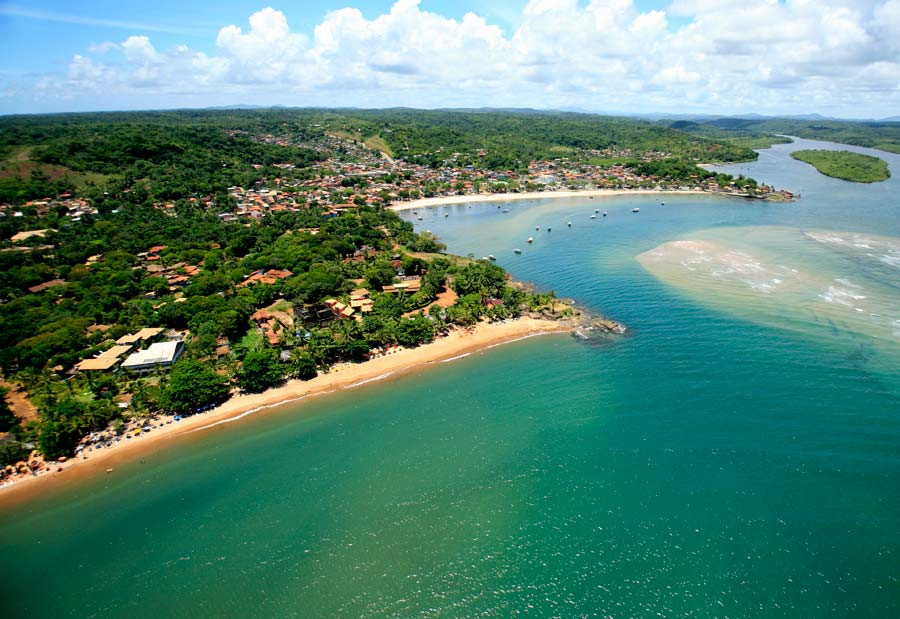 Vista aérea praia da Concha