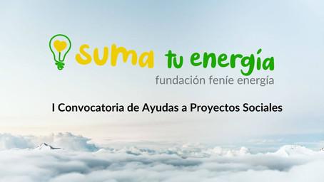 FUNDACIÓN FENÍE ENERGÍA LANZA LA I CONVOCATORIA DE AYUDAS A PROYECTOS SOCIALES 'SUMA TU ENERGÍA'