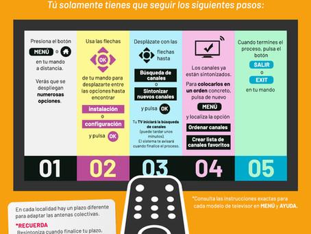 GUÍA PARA RESINTONIZAR Y ORDENAR LOS CANALES DE LA TDT