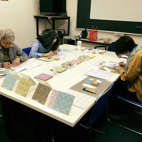 朝日カルチャーで春の千代紙!Spring Workshop at Asahi Culture Centre!
