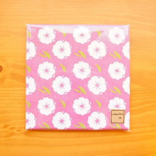 パターンてぬぐい 桃の花/Peach blossom