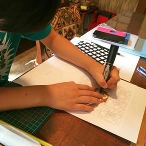 リピートデザインの講義と実践! Design program of Pattern design!