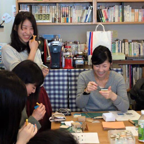 3年目の春! Spring Chiyogami workshop of 3rd year!