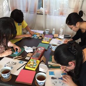 なおみ先生の秋! Autumn Chiyogami workshop!