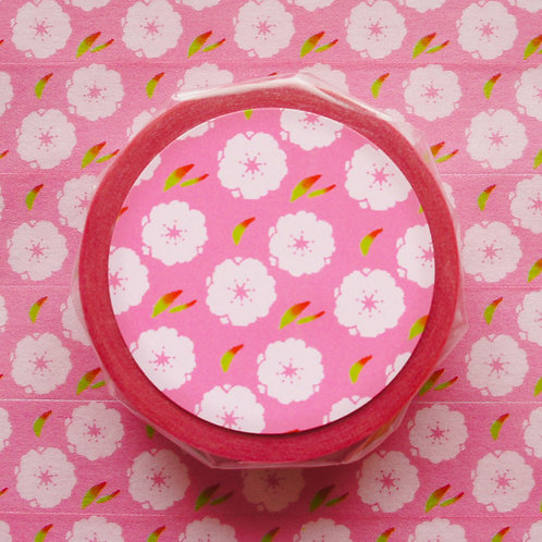 パターンマスキングテープ 桃/Peach blossam