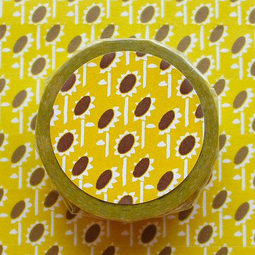 パターンマスキングテープ 向日葵/Sun flower