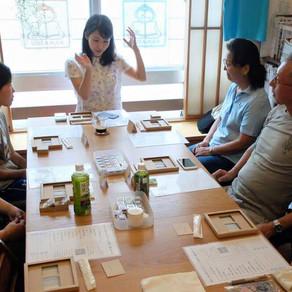 消しゴムはんこパターンで遊ぶ!夏のポーチ Summer Pouch Workshop!
