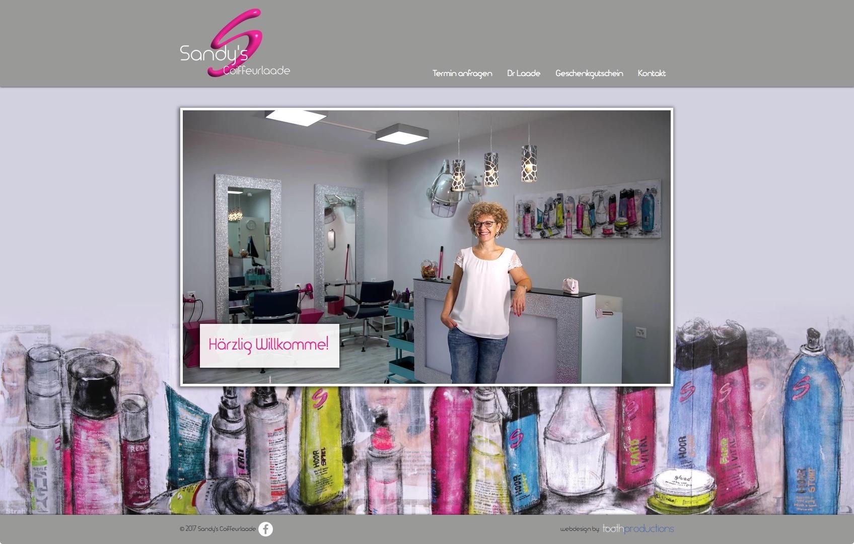 Sandy's Coiffeurlaade - Website