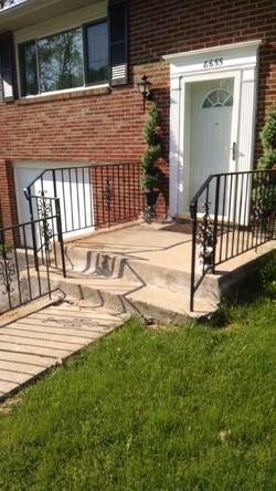 Porch & stair rails w/ scrolls