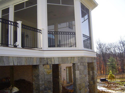 Patio rail with O rings