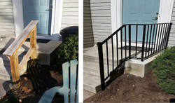 Porch rails (before & after)