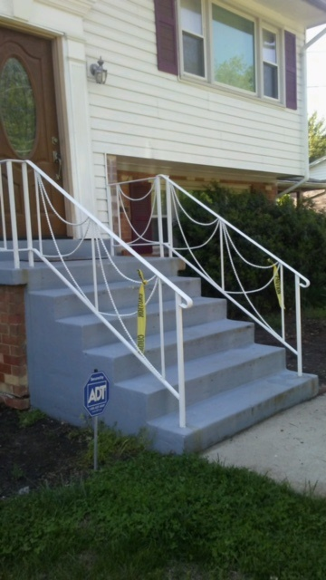 White decorative porch & stair rails