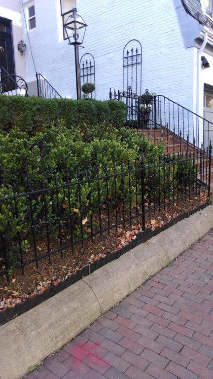 Fence - with decorative spears