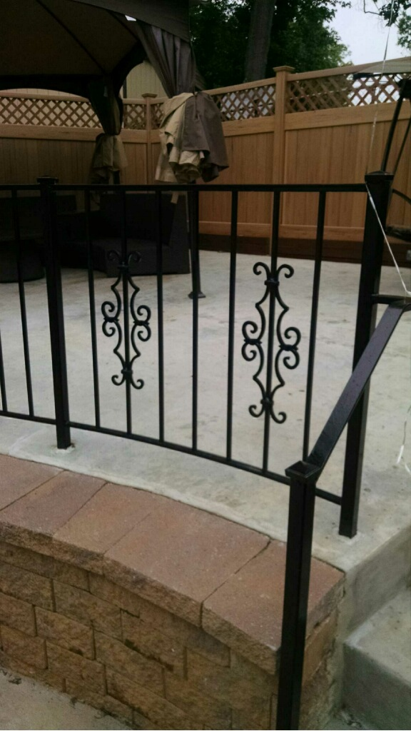 Decorative patio rail