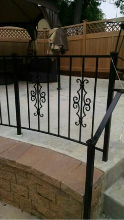 Decorative patio rail