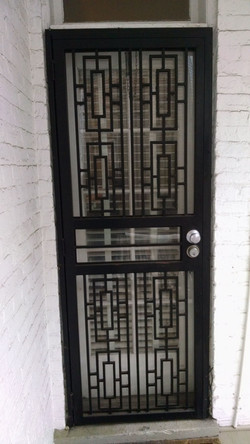 Squared Security Door with Glass