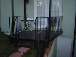 Porch - Iron Porch with Rails