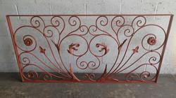 Decorative scrolled rail