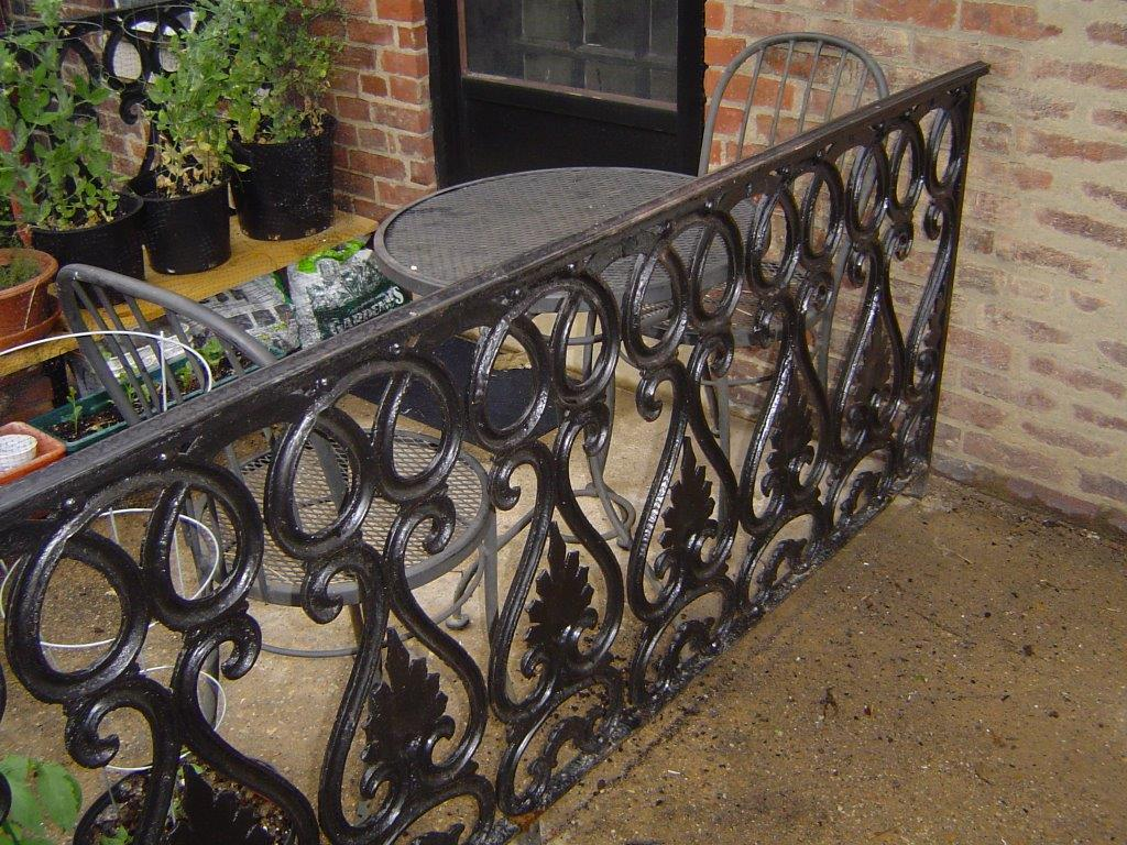 Decorative patio rails