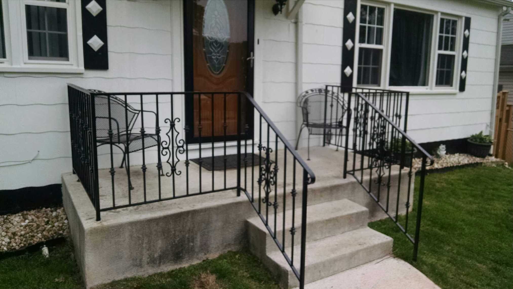 Porch rails w/ Victorian panels