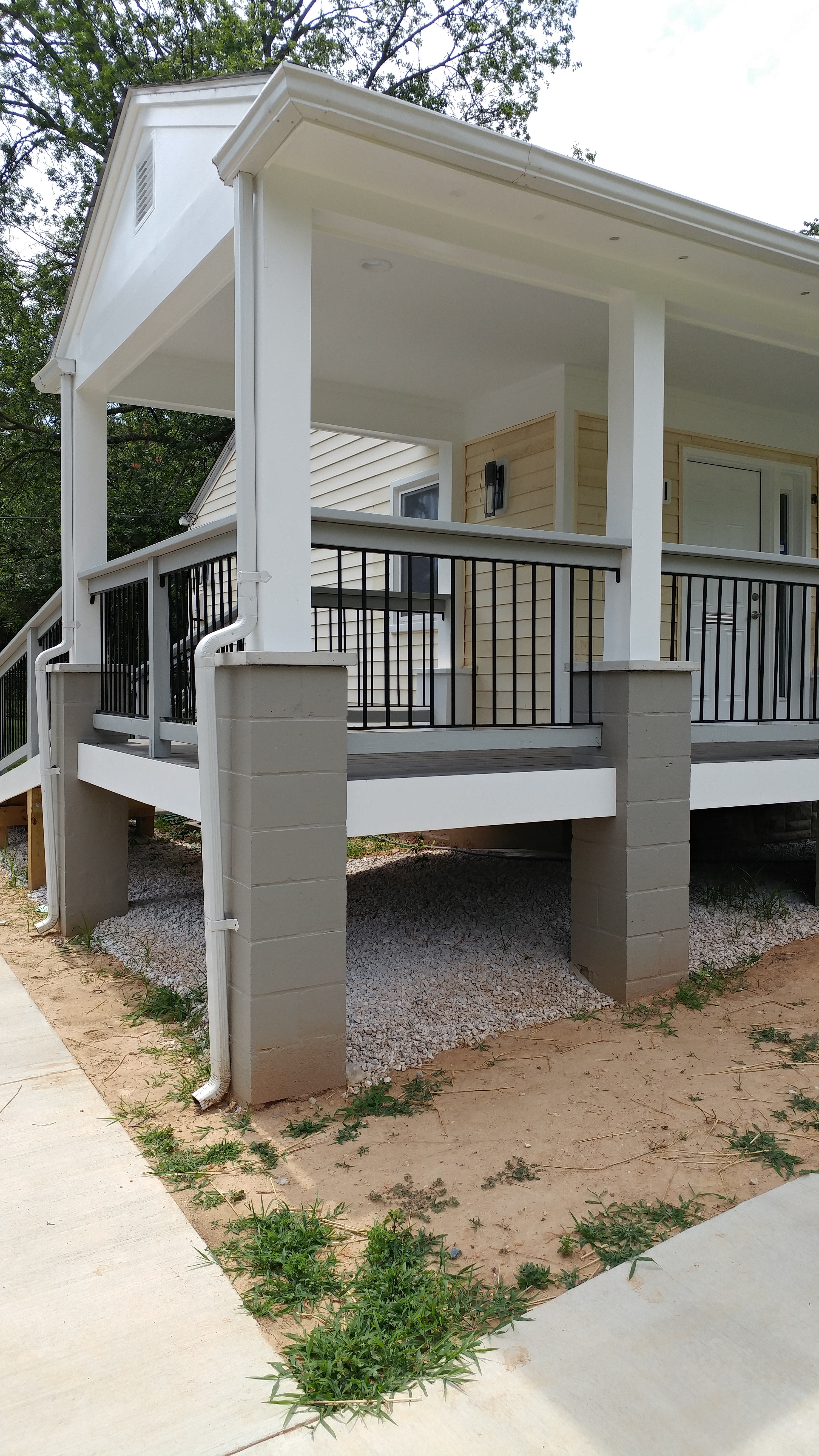 Porch rail inserts