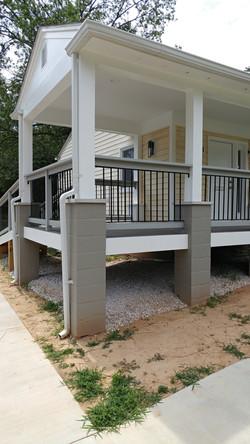 Porch rail inserts