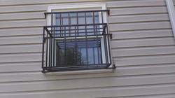 Window Guard with AC Basket