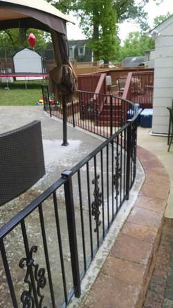Patio fence w/ Victorian panels 2
