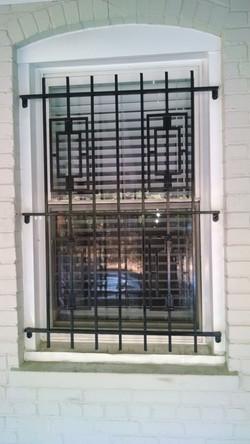 Window guard with rectangular panels