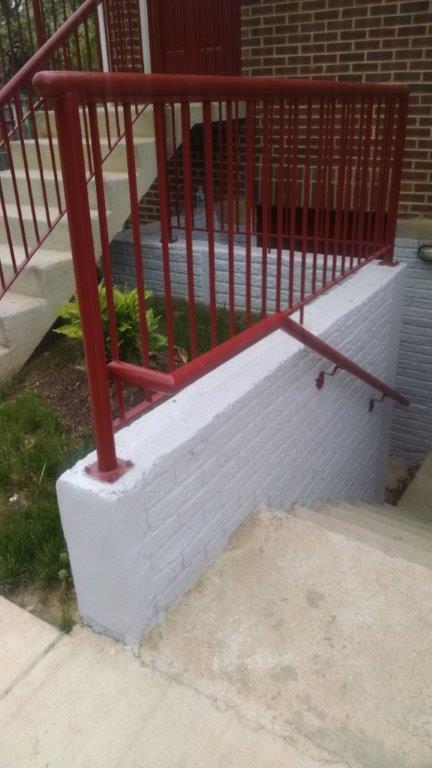Area-way & wall rail