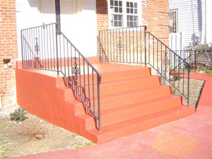 Porch & stair rail w/ panels