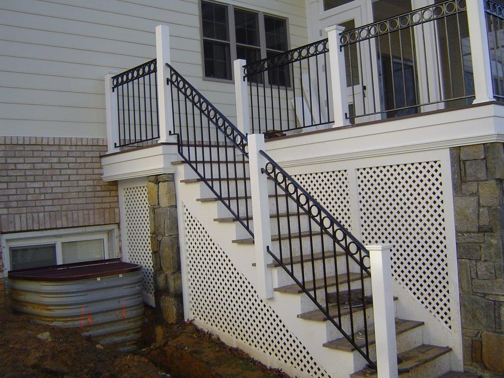 Stair rail w/ O rings