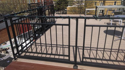 Rooftop deck fence