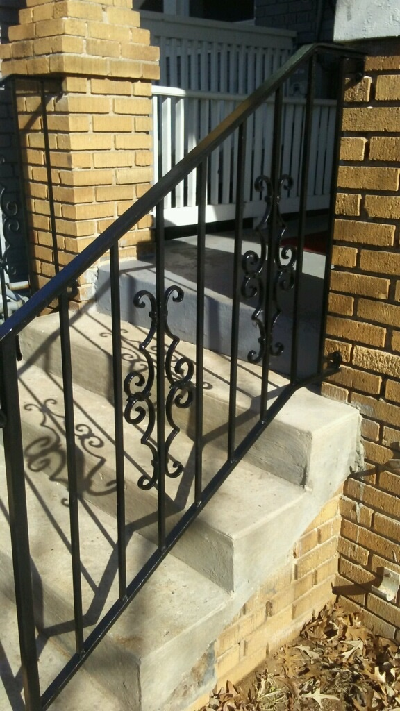 Stair rail w/ Victorian panels