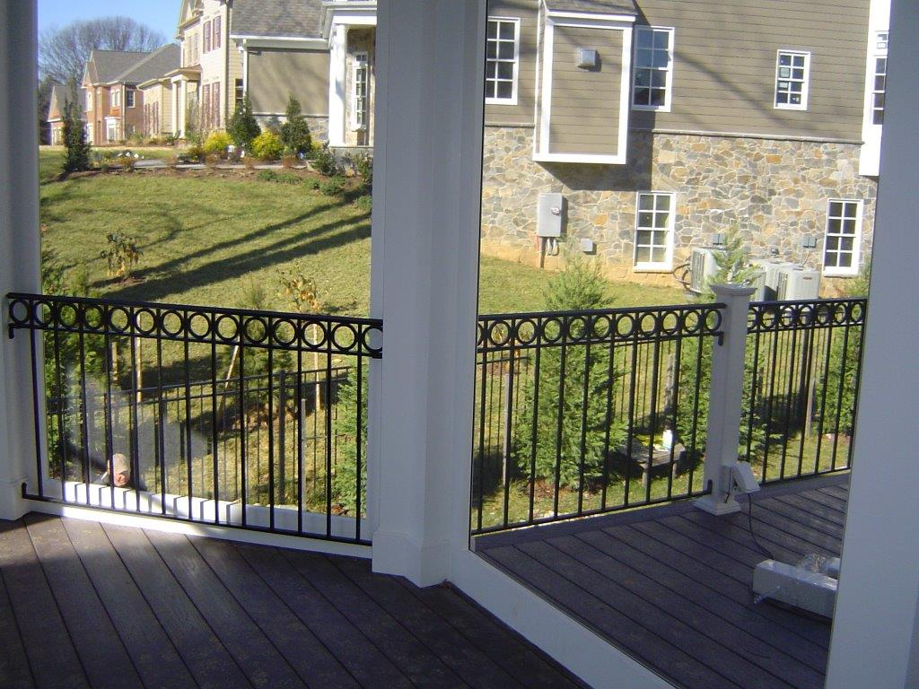 Patio rail w/ O rings