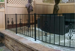 Patio rails with Victorian panels