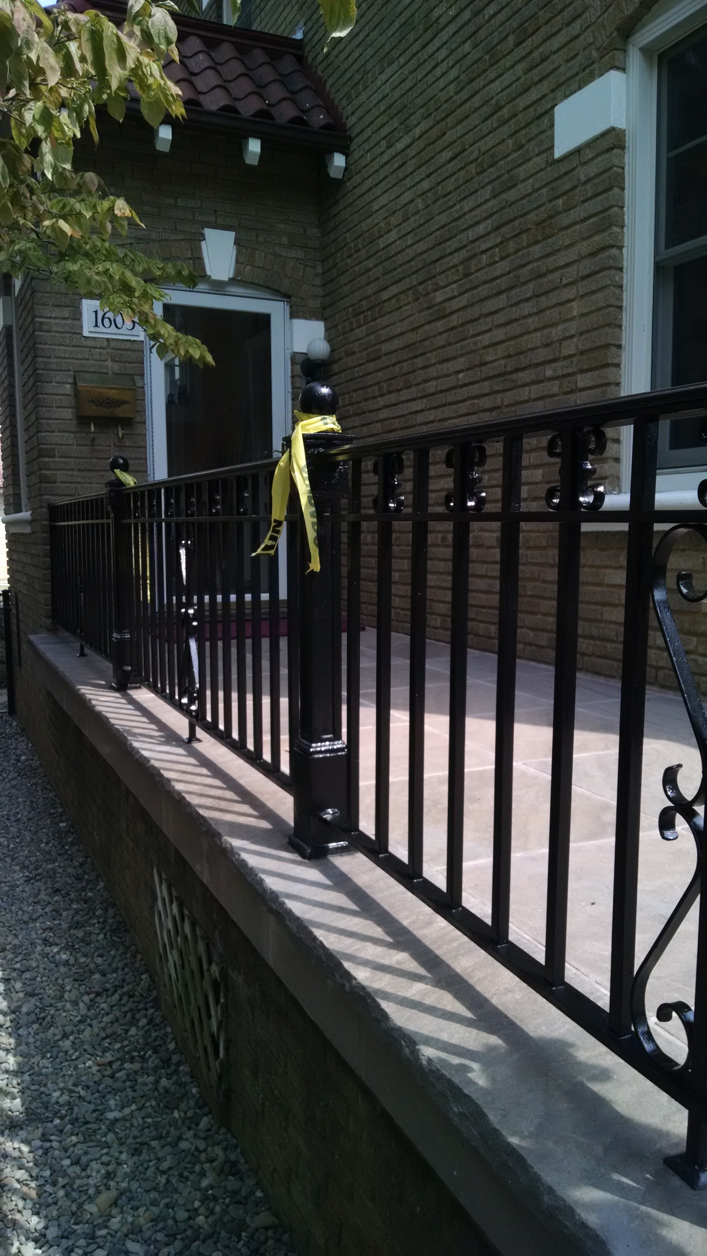 Decorative porch rail
