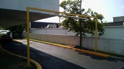 Specialty parking garage barrier