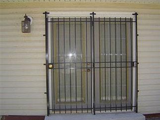 City ornamental iron inc home basic double patio security door planetlyrics Choice Image