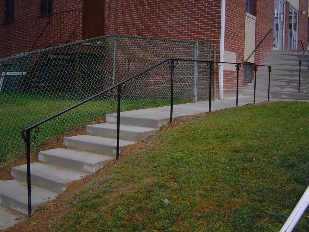 Walkway rail w/ C scrolls