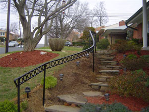 Curved stair rail w/ O rings